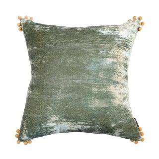 Omni Sea Foam Silk Velvet Pillow
