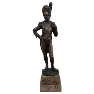 19th Century French Sculpture in Bronze Soldier Grenadier Napoleonic Army Figure For Sale