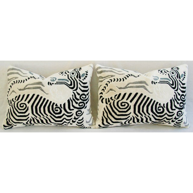 Clarence House Tibet Dragon Fabric Pillows - Pair - Image 7 of 11