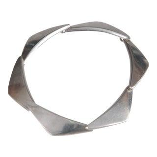 Georg Jensen Mid Century Modern Link Bracelet For Sale