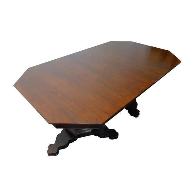 Mahogany EJ Victor Transitional Double Pedestal Dining Table For Sale - Image 7 of 11