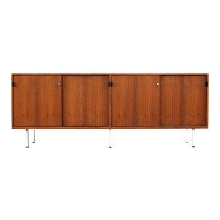 1960s Vintage Florence Knoll Danish Modern Teak Credenza For Sale