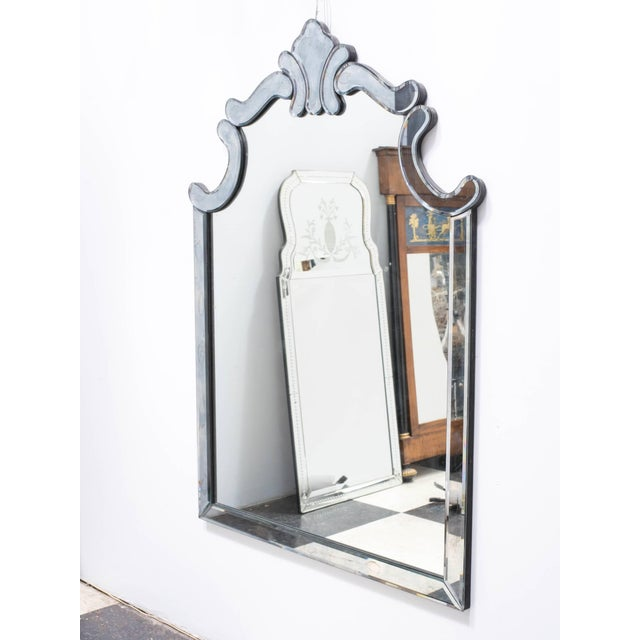 Glass 1940s Regency Style Mirror by Marchand For Sale - Image 7 of 9