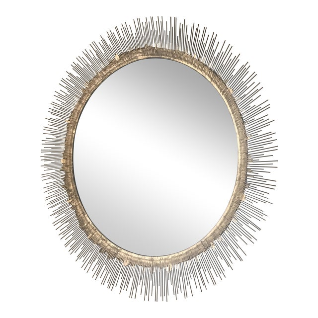 Crate & Barrel Clarendon Round Wall Mirror - Image 1 of 4