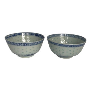 Chinese Blue & White Porcelain Bowls - A Pair