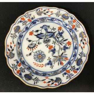 18th Century Vintage Meissen Porcelain Blue Onion Plate Preview