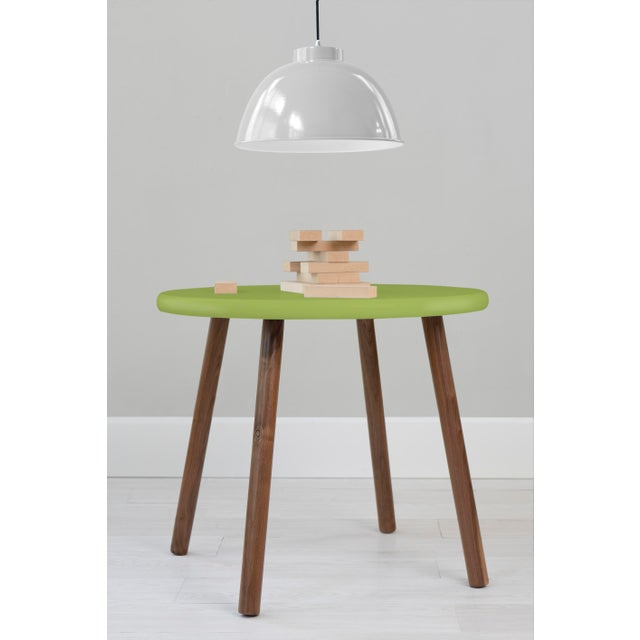 "Peewee Round 30"" Large Walnut Kids Table. Our Peewee table has a sleek modern look and provides plenty play space with a..."