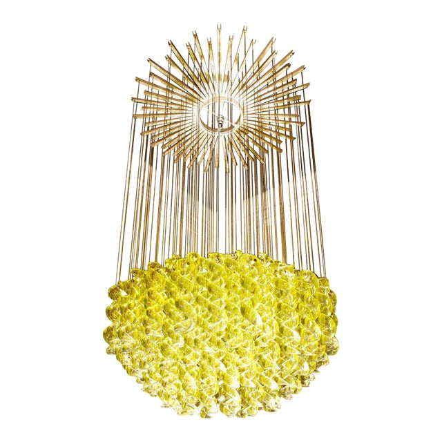 Exceptional Venetian Blow, Glass Pendant Light Fixture For Sale In Chicago - Image 6 of 6