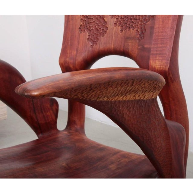 Walnut One of a Kind Studio Charles B. Cobb Armchair, US, 1977 For Sale - Image 7 of 11