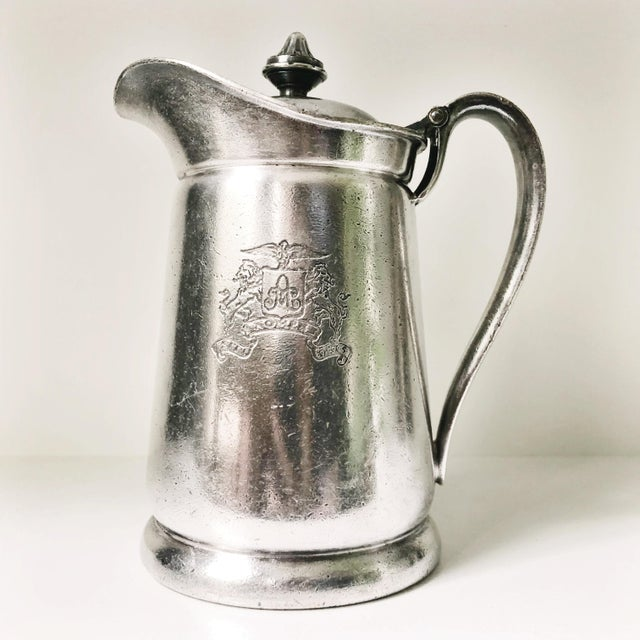 Metal 1954 Silver Plated Insulated Pitcher From the Ambassador Hotel NYC For Sale - Image 7 of 7