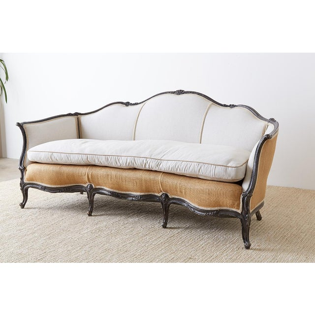 French Restored 19th Century French Louis XV Style Canape Sofa For Sale - Image 3 of 13