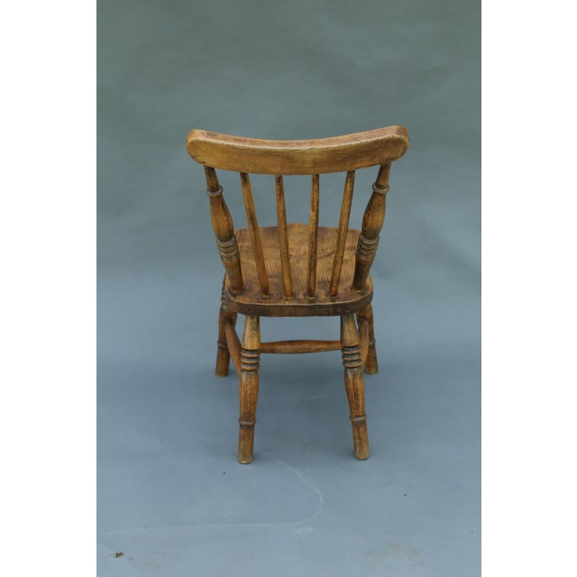 Antique English Elm Child's Chair - Image 6 of 8