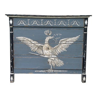 19th Century Italian Painted Chest With Drawers For Sale