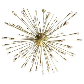 Large Mid-Century Style Sputnik Chandelier in Brass - 50th Anniversary Sale For Sale