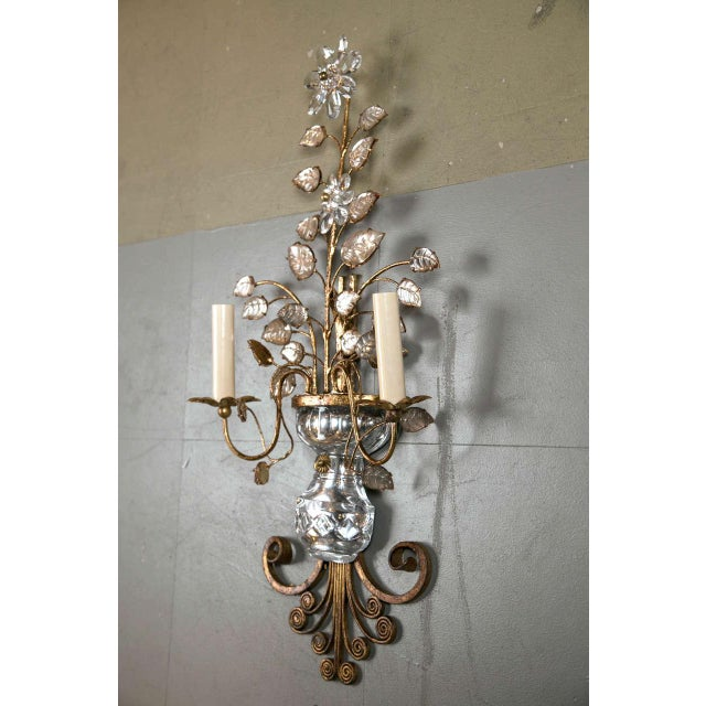 1930s French Gilt Metal Sconces - a Pair For Sale In New York - Image 6 of 8