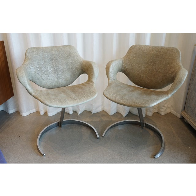 Pair of Vintage Chairs by Boris Tabocoff Chairs For Sale - Image 11 of 12