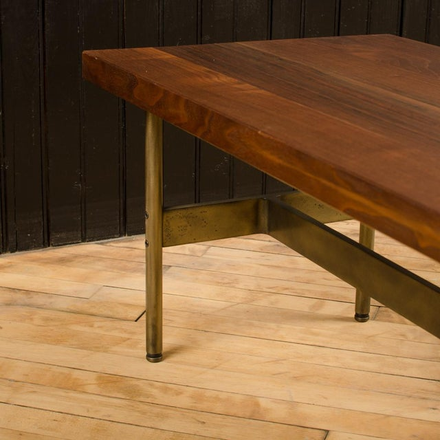 """2010s Gratz Industries Contemporary """"Terenia"""" Walnut Top Console Table For Sale - Image 5 of 6"""