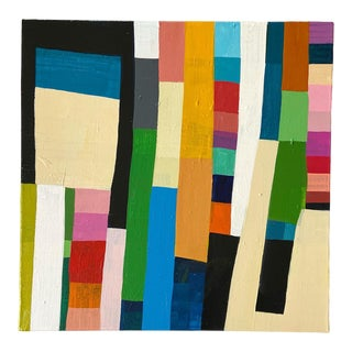 """""""Patchwork Quilt: Color Swatch"""" Contemporary Abstract Acrylic Painting by Poppy Dodge For Sale"""