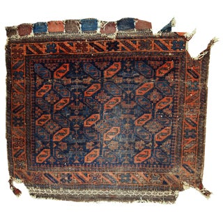 1880s Hand Made Antique Afghan Baluch Bagface For Sale