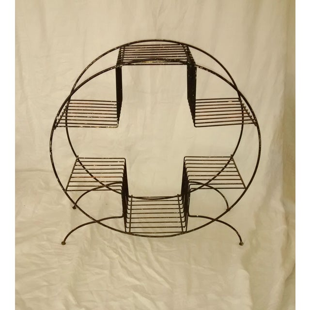 Mid Century Modern Wire Plant Stand Shelf - Image 8 of 8
