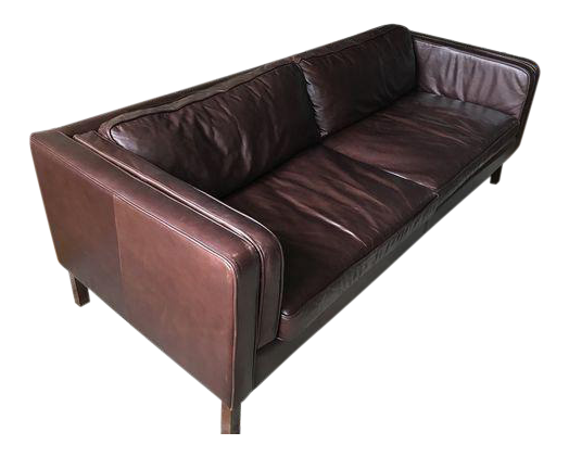 Pottery Barn Austin Espresso Leather Sofa