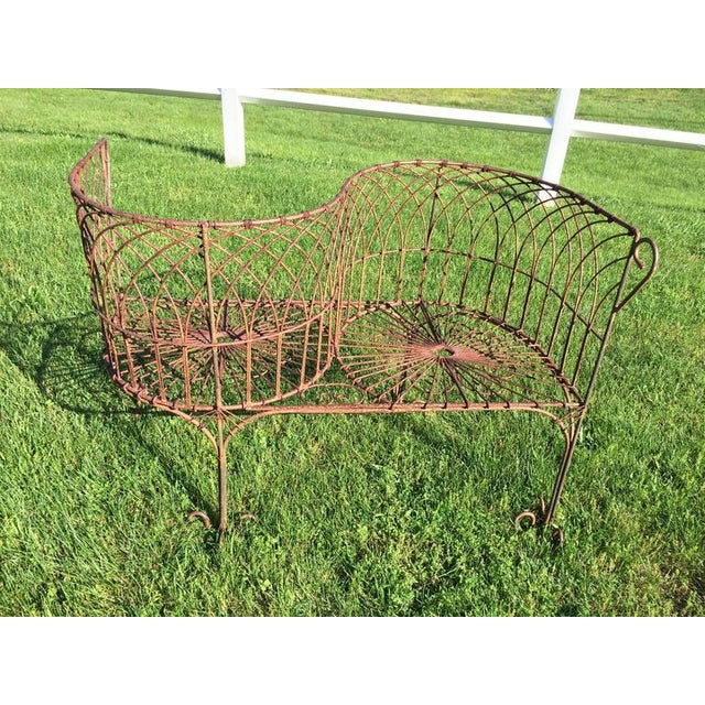 Vintage Iron Garden Tete-A-Tete For Sale - Image 4 of 9