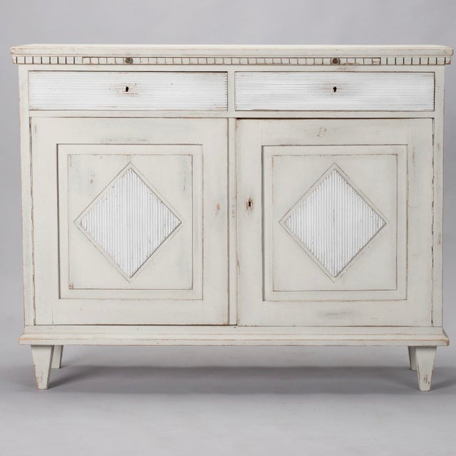 19th Century Painted Swedish Buffet Cabinet For Sale - Image 11 of 11