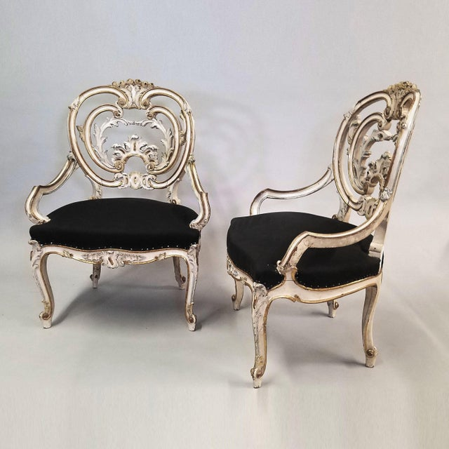 Pair of Late 19th Century Louis XIV Style Signed Maison Jansen Arm Chairs For Sale - Image 12 of 12