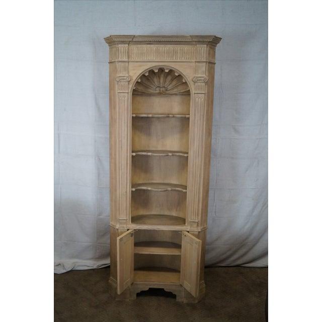 Baker Scrub Pine Architectural Corner Cabinet - Image 5 of 10