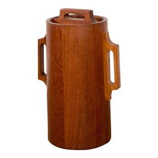 1960s Danish Modern Jens Quistgaard Ihq Dansk Staved Teak Banded Ice Bucket For Sale