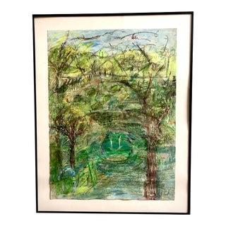"""Zen Garden"" Abstract Landscape Painting by Ellen Reinkraut For Sale"