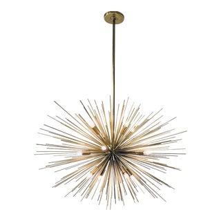 Arteriors Modern Brass Finished Zanadoo Sputnik Chandelier For Sale