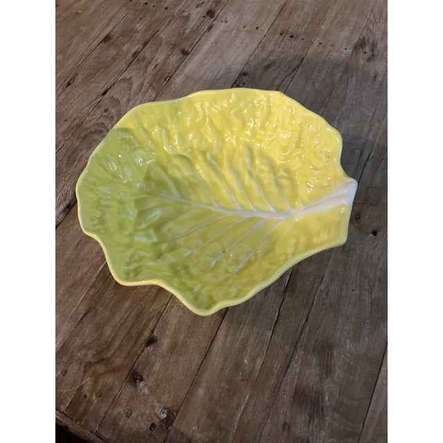 Great vintage yellow cabbage serving platter.