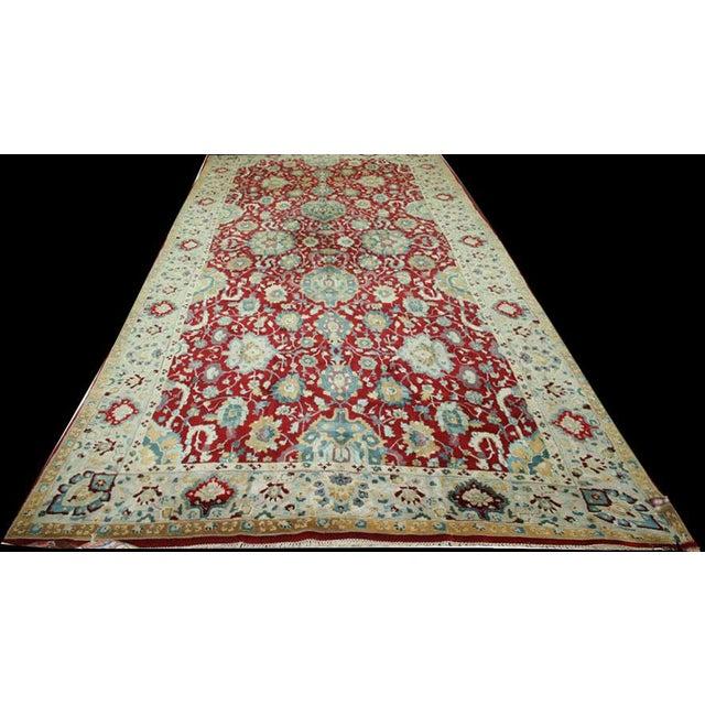 Textile 1930s Vintage German Persian Sultanabad Design Rug - 8′8″ × 18′ For Sale - Image 7 of 7