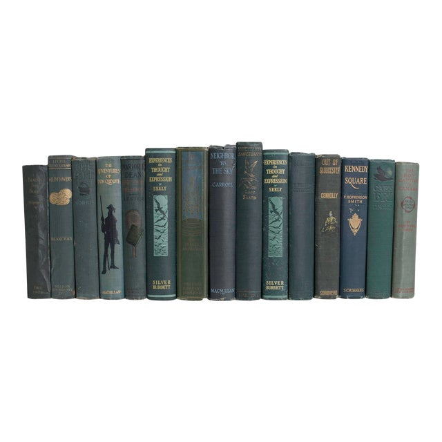 Vintage Pine Book Set - Set of 15 For Sale