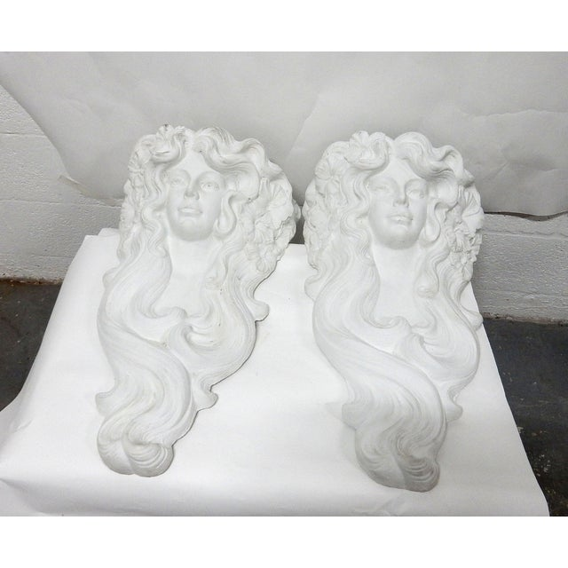 Tony Lopez Plaster Wall Sconces - a Pair - Image 4 of 7