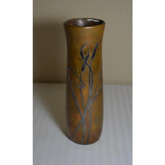 Vintage Signed Arts Crafts Silver Crest Bronze Vase Chairish