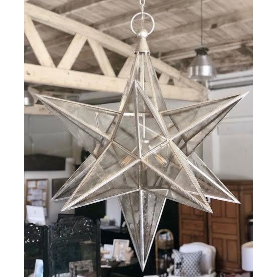 Contemporary Visual Comfort Burnished Silver Moravian Star Pendant Light For Sale - Image 3 of 3