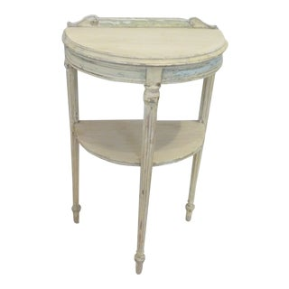 20th Century Shabby Chic Painted Demi-Lune Console