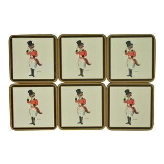 1960s Vintage Snooty Fox Coasters - Set of 6 For Sale