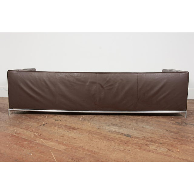 Contemporary B&B Italia Contemporary Chocolate Brown Leather 'George' Sofa For Sale - Image 3 of 8