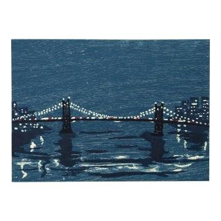 "Richard Bosman, ""Bridges I"", New York City Landscape For Sale"
