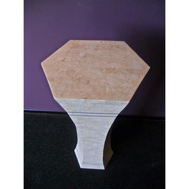 1980s Marble and Brass Pedestal For Sale - Image 5 of 6