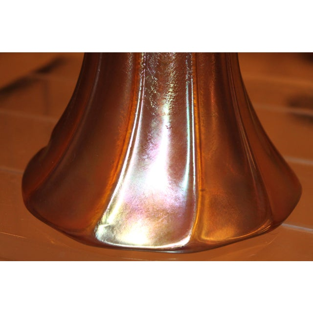 Frederic Carder Steuben Glassworks Gold Aurene Lamp Post For Sale In Miami - Image 6 of 8