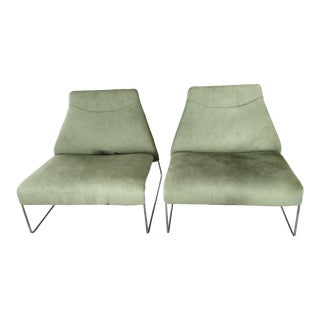B&b Italia Lazy Armchairs - a Pair For Sale