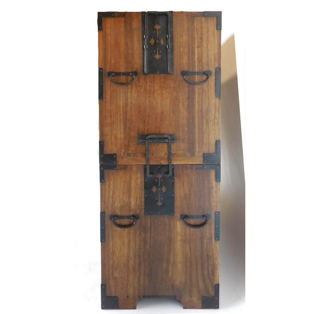 19th century Japanese double stacked (two tansus) with drawers. Can be separated into two separate pieces, and used...
