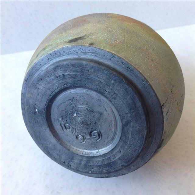 Earth Tone Raku Pottery Vase - Image 6 of 11