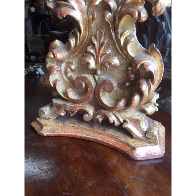 Gold 18th Century Carved Giltwood Candles Converted to Lamps - a Pair For Sale - Image 8 of 13