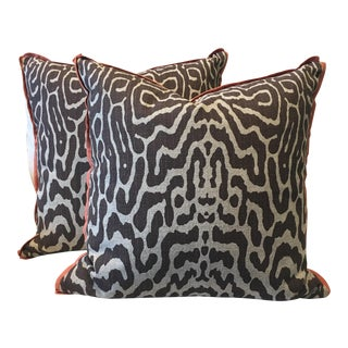 Safari Cocoa Pillows - A Pair For Sale