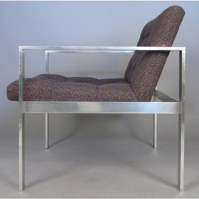 Harvey Probber 1960s Vintage Aluminum Frame Lounge Chairs by Harvey Probber-a Pair For Sale - Image 4 of 7